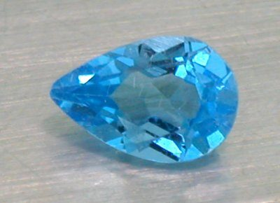 Blue Topaz Pear Shape (8mm x 5mm)