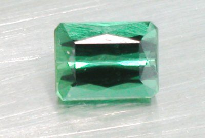 Green Tourmaline Emerald Cut (8mm x 6mm - AA aquality)-1