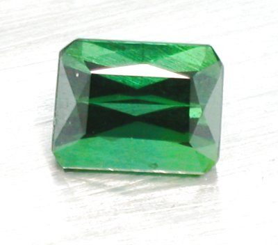 Green Tourmaline Emerald Cut (9mm x 7mm)