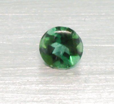 Green Tourmaline Round Buff Top (5