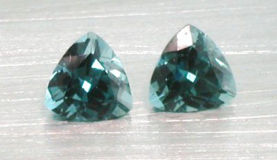 Green Tourmaline Trillion (1
