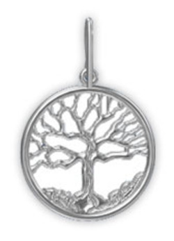 Large 14k White Gold Family Tree -3