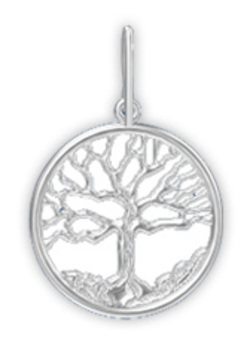Large Sterling Silver Family Tree -1